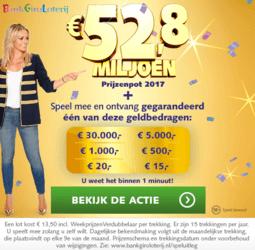 Bank giro loterij actie