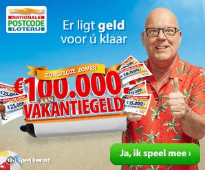 Vakantiegeld Postcode Loterij
